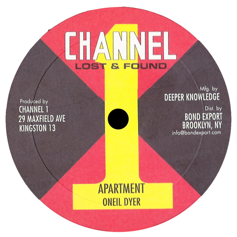 "Image of Oneil Dyer / unknown artist - Apartment / Hey Natty Dread 10"" (Channel 1)"