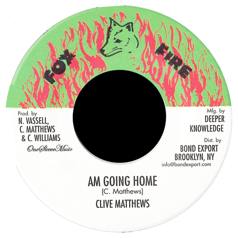 "Image of Clive Matthews - Am Going Home 7"" (Fox Fire)"