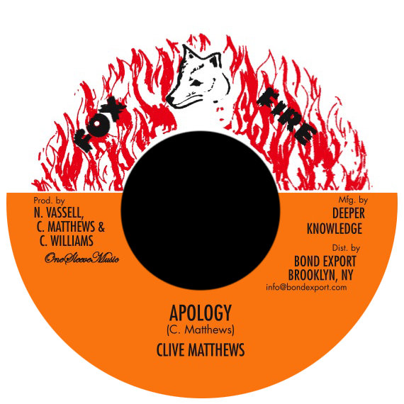 "Image of Clive Matthews - Apology 7"" (Fox Fire)"