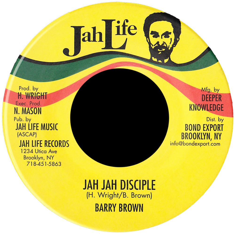 "Image of Barry Brown - Jah Jah Disciple 7"" (Jah Life)"
