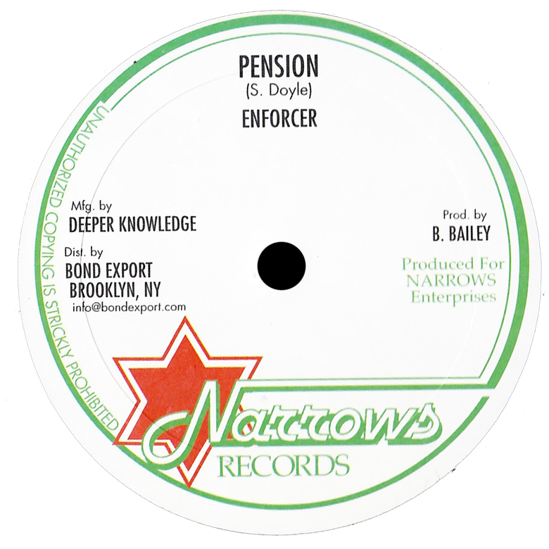 "Image of Enforcer - Pension / Africa Way 10"" (Narrows)"