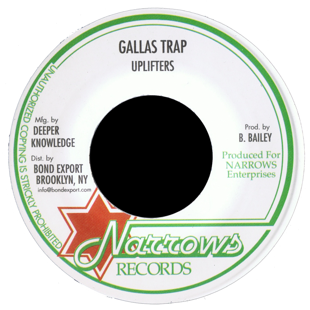 "Image of Uplifters - Gallas Trap 7"" (Narrows)"