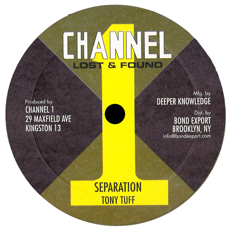 "Image of Tony Tuff - Separation / Come Along 10"" (Channel 1)"
