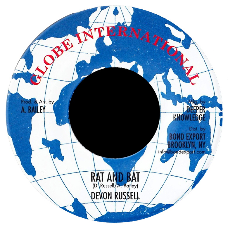 "Image of Devon Russell - Rat & Bat 7"" (Globe International)"