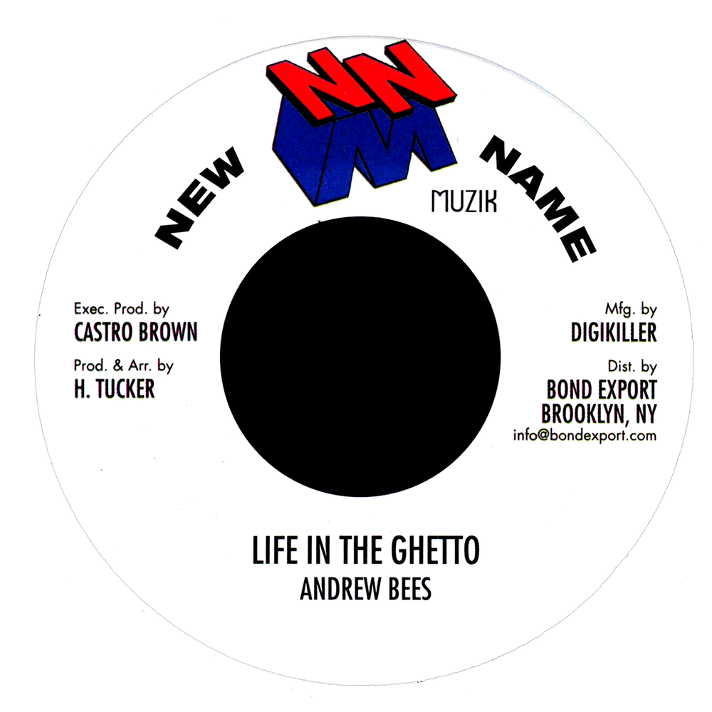 """Image of Andrew Bees - Life in the Ghetto 7"""" (New Name Muzik)"""