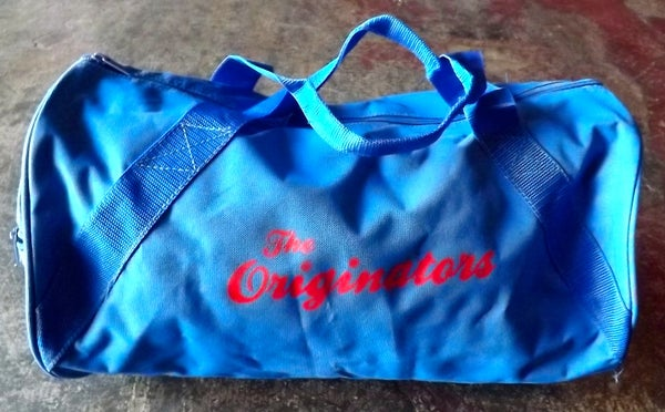 Image of ORIGINATORS SCRIPT DUFFEL BAG (ROYAL BLUE)