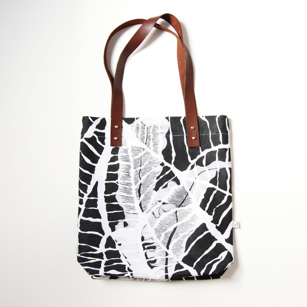 """Image of sac tote """"botanic"""" noir"""