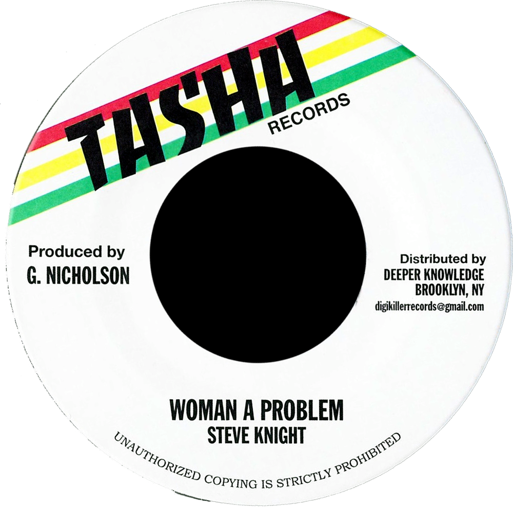 "Image of Steve Knight - Woman a Problem 7"" (Tasha)"