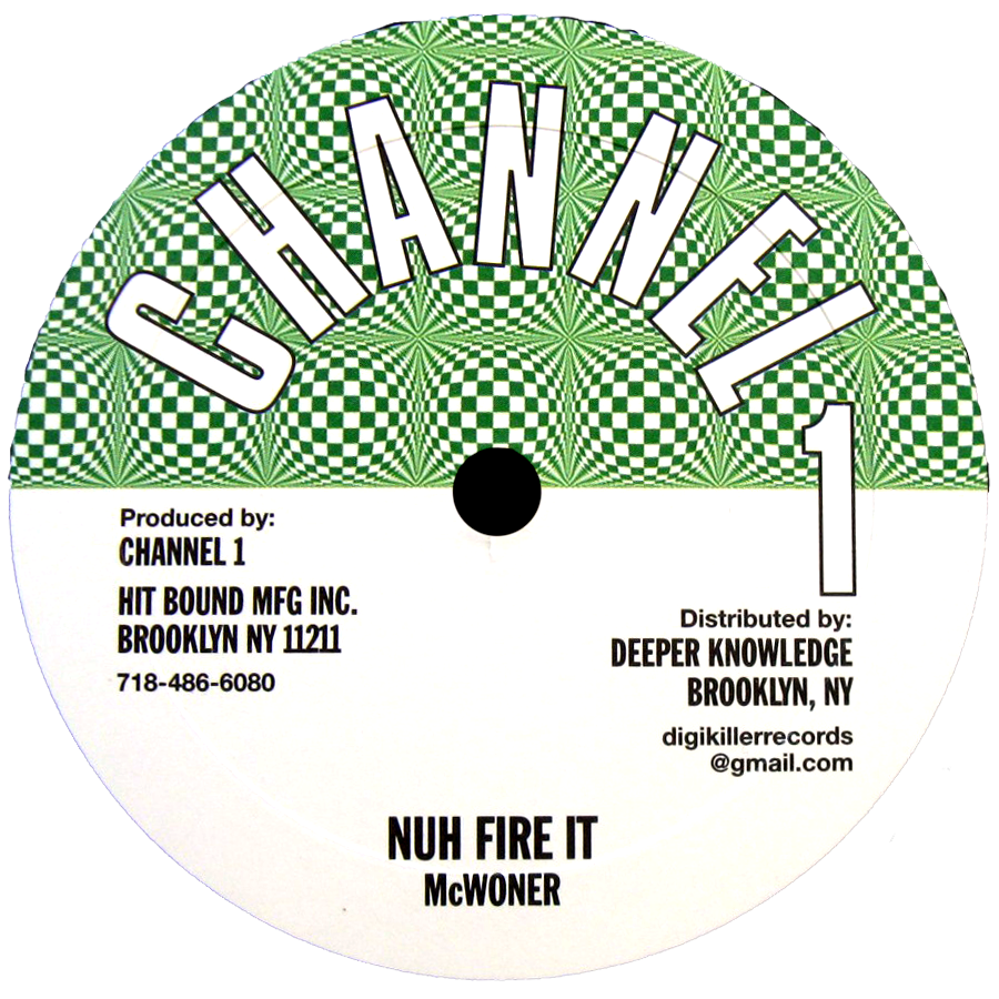 "Image of McWoner - Nuh Fire It / Higher Region 10"" (Channel 1)"