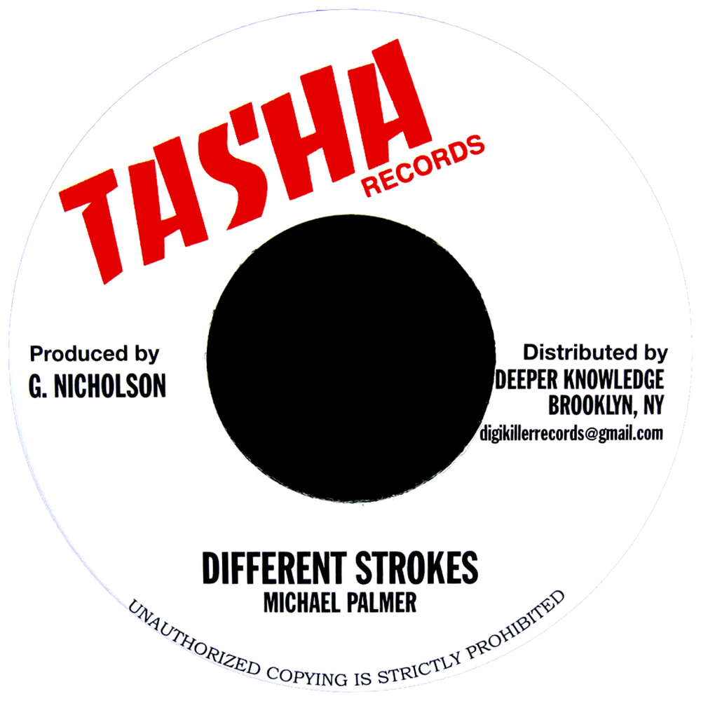 "Image of Michael Palmer - Different Strokes 7"" (Tasha)"