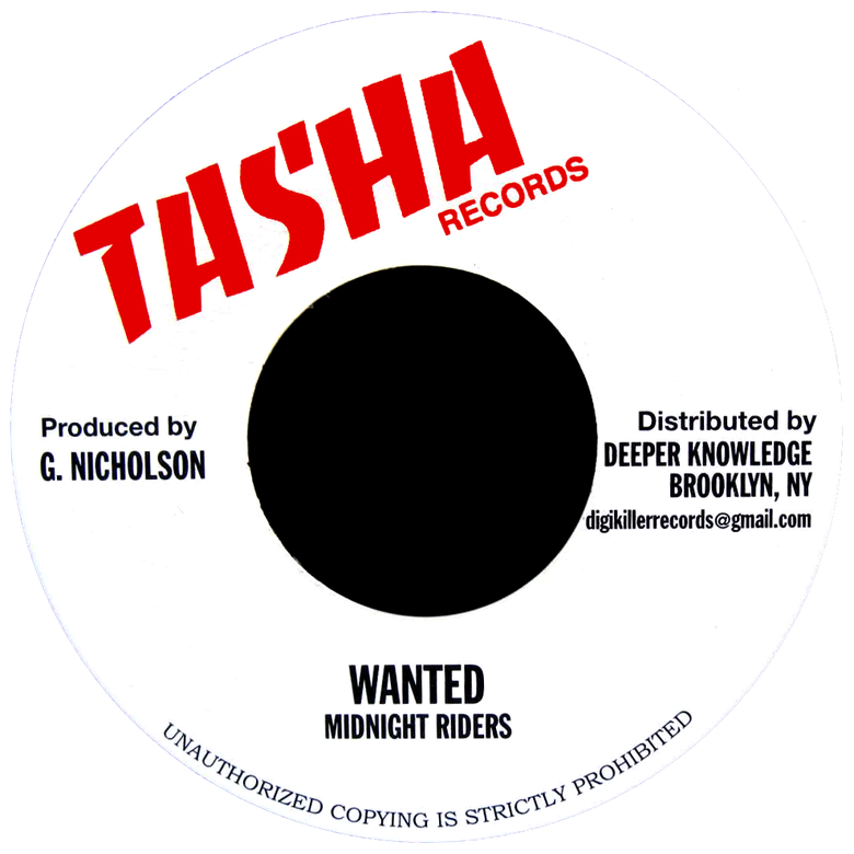 "Image of Midnight Riders - Wanted 7"" (Tasha)"