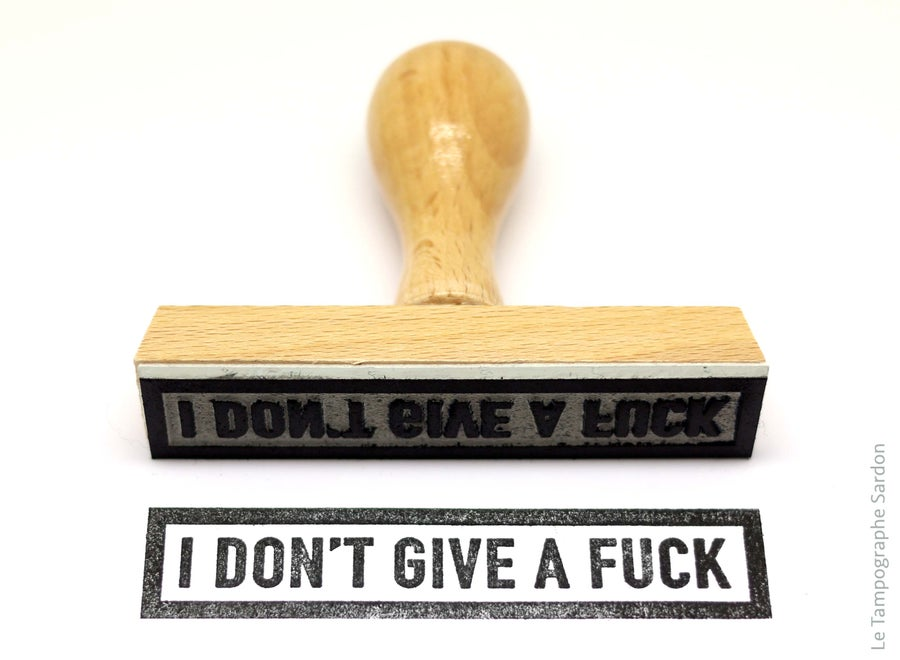 Image of I don't give a fuck