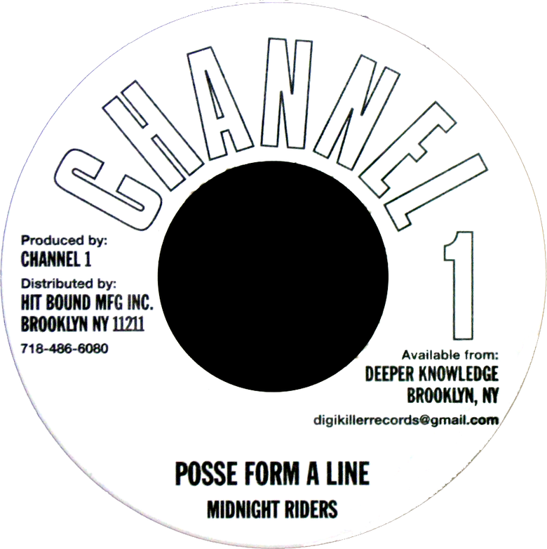 "Image of Midnight Riders - Posse Form a Line 7"" (Channel 1)"