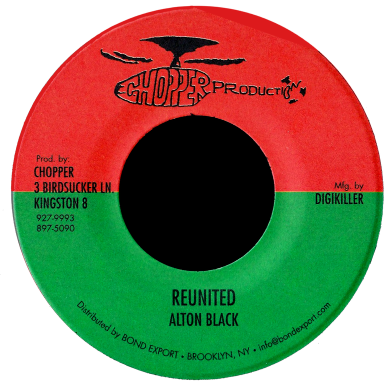 "Image of Alton Black - Reunited 7"" (Chopper Productions)"