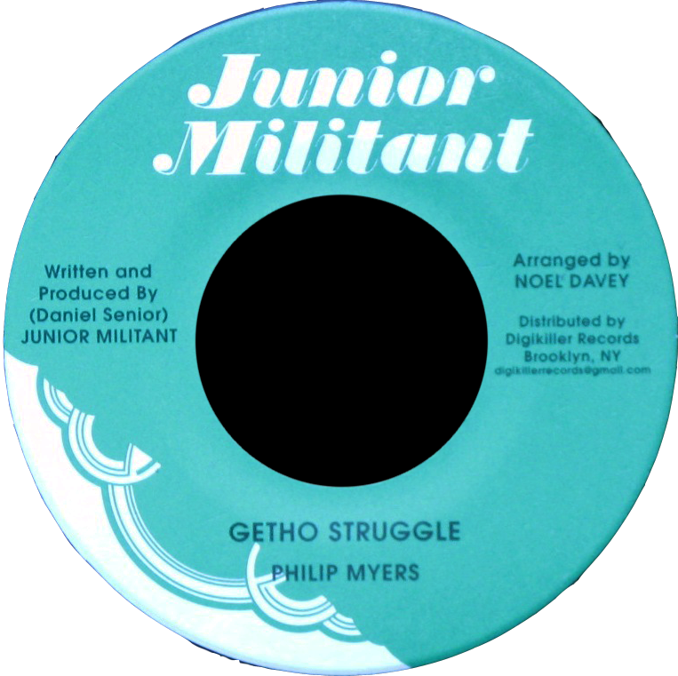 "Image of Philip Myers - Getho Struggle 7"" (Junior Militant)"