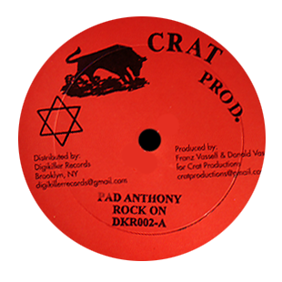 "Image of Pad Anthony - Rock On / We Rule Things 12"" (Crat Productions)"
