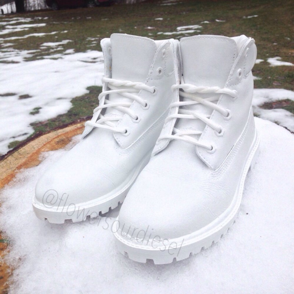 White Timberland Boots (Womens Sizes)   getlaced 159467a75c28