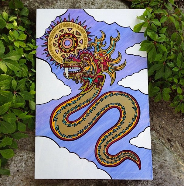 "Image of ""Quetzalcoatl"" By Cosmic Architect"