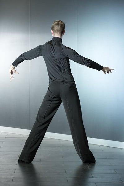 Image of Mens Latin Pants w/satin trim (B3564) Dancewear latin ballroom