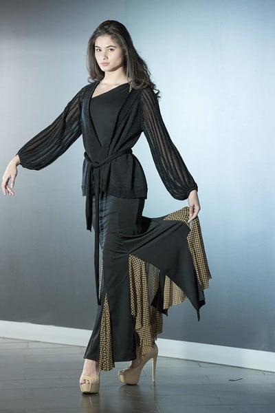 Image of Ballroom Blitz Skirt - Dots (J6164A) Dancewear latin ballroom