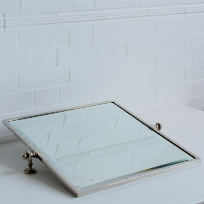 Image of Large Square Art Deco mirror