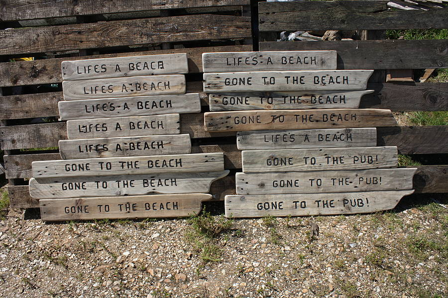 Image of Reclaimed Wooden Sign