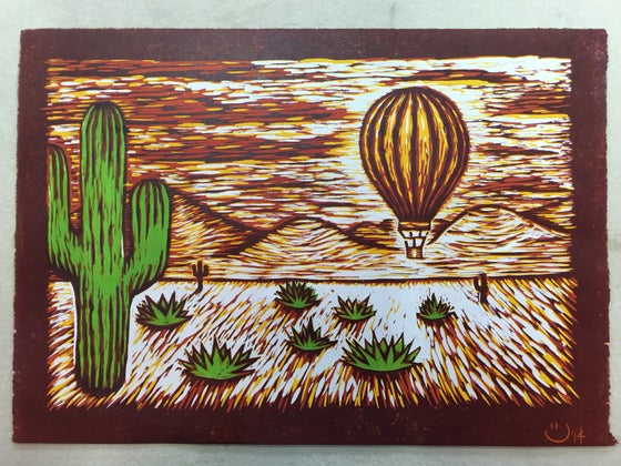 """Image of """"The Cactus Balloon"""""""