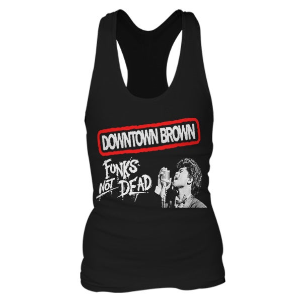 Image of Downtown Brown 'Funks Not Dead' Women's Tank