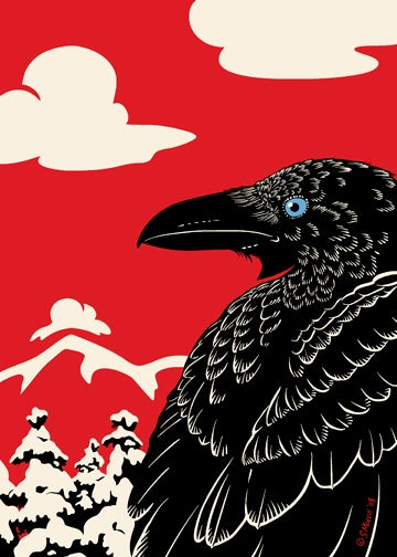 "Image of The Raven's Winter Giclee Print 16""x20"" or 18""x24"""