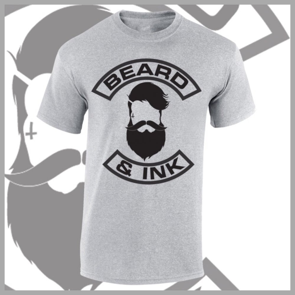Image of Grey Beard & Ink Front Logo Tee.