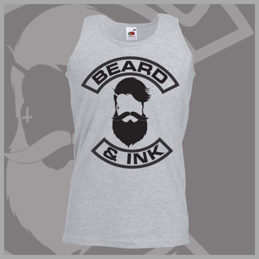 Image of Grey Beard & Ink Front Logo Vest