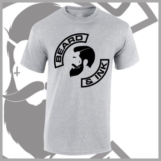 Image of Grey Beard & Ink Side Logo Tee.
