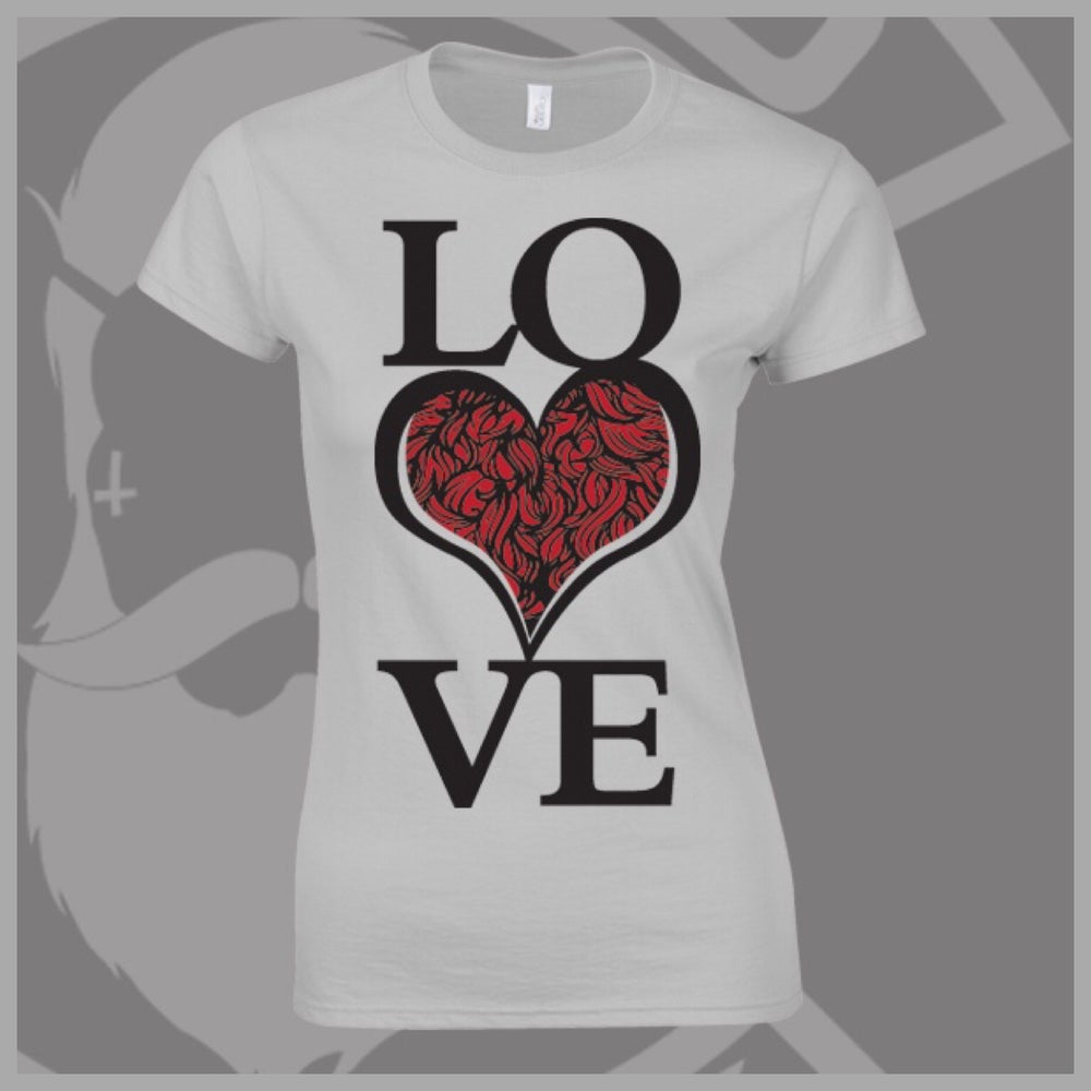Image of Grey Beard and Ink LOVE Bearded ❤️ Logo Tee