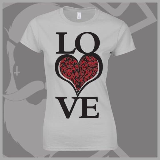 Image of Grey Beard and Ink LOVE Bearded ❤️ Logo Tee