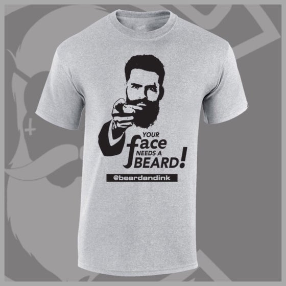 "Image of Grey ""Your Face Needs A Beard"" Tee"