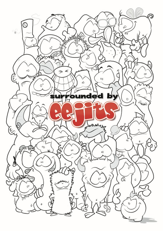 Image of SURROUNDED by eejits Poster