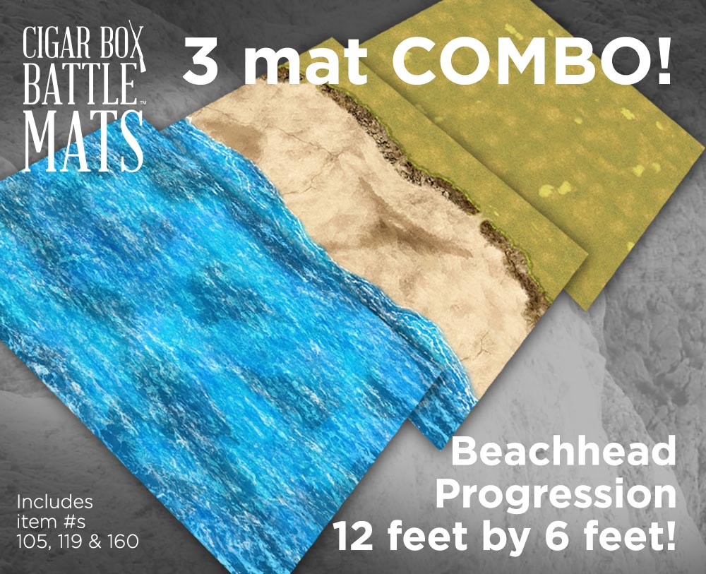 Image of Beachhead (3) Battle Mat Combo -- 4'x6' plus -- #161