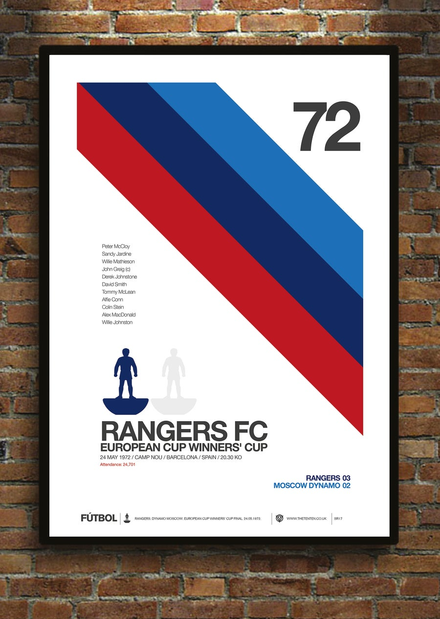 Image of RANGERS 1972 CUP WINNERS' CUP FINAL