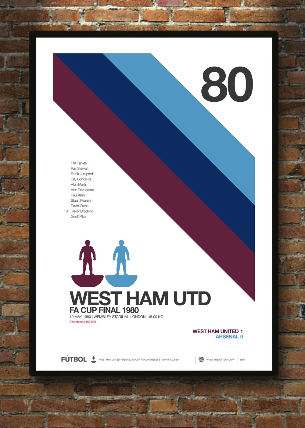 Image of WEST HAM UNITED 1980 FA CUP FINAL