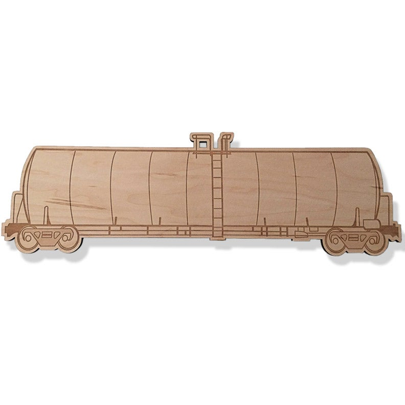 Image of WOODEN TANK CAR FREIGHT TRAIN