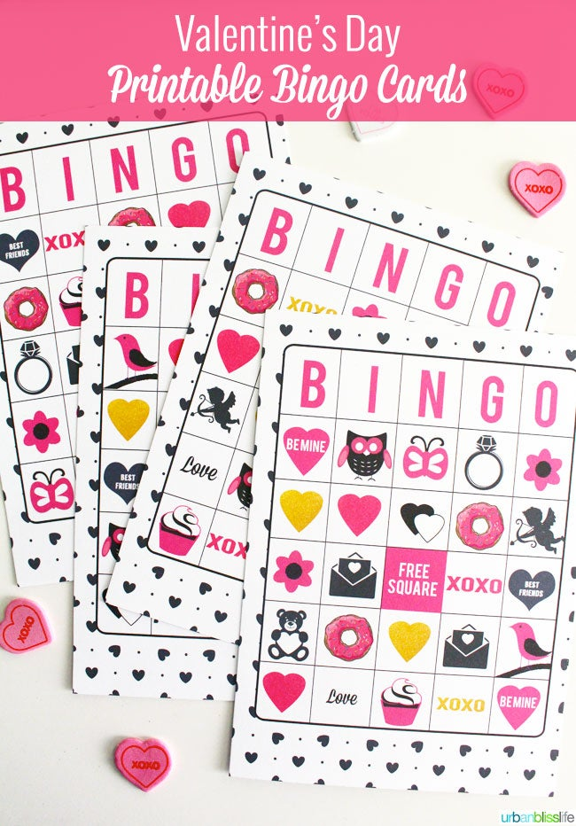picture relating to Valentine Day Bingo Cards Printable named Valentines Working day Bingo Playing cards