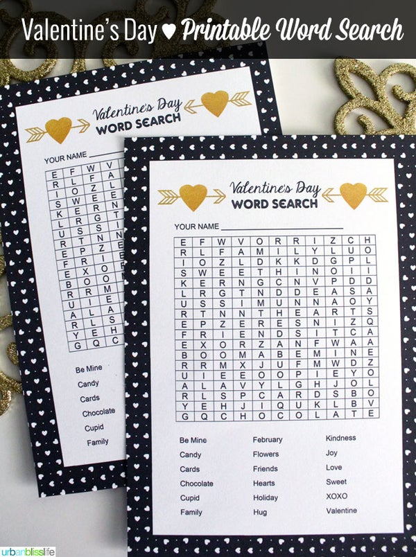 Image of Valentine's Day Word Search Cards