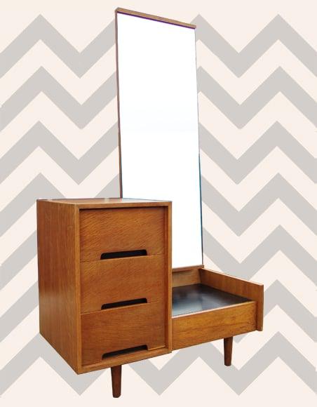 Modernist Oak Dressing Table By John Amp Sylvia Reid For
