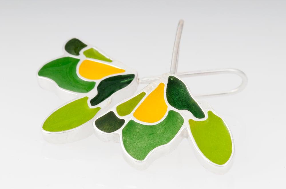 Image of Resinate Sterling Silver Leaf Earrings