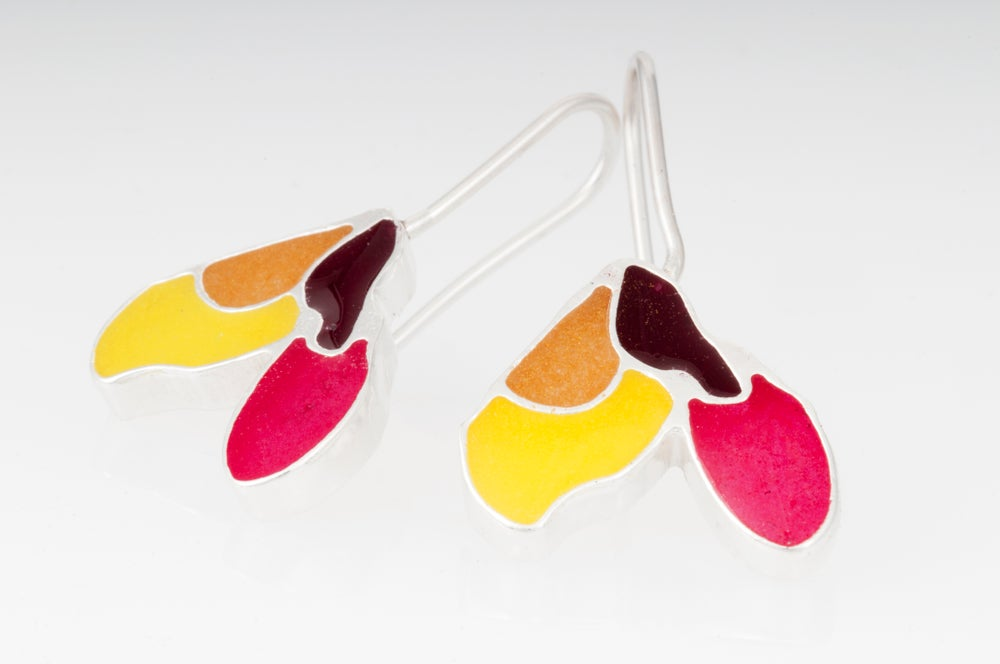 Image of Resinate Sterling Silver Maple Earrings