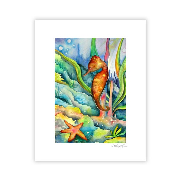 Image of Seahorse, Archival Paper Print