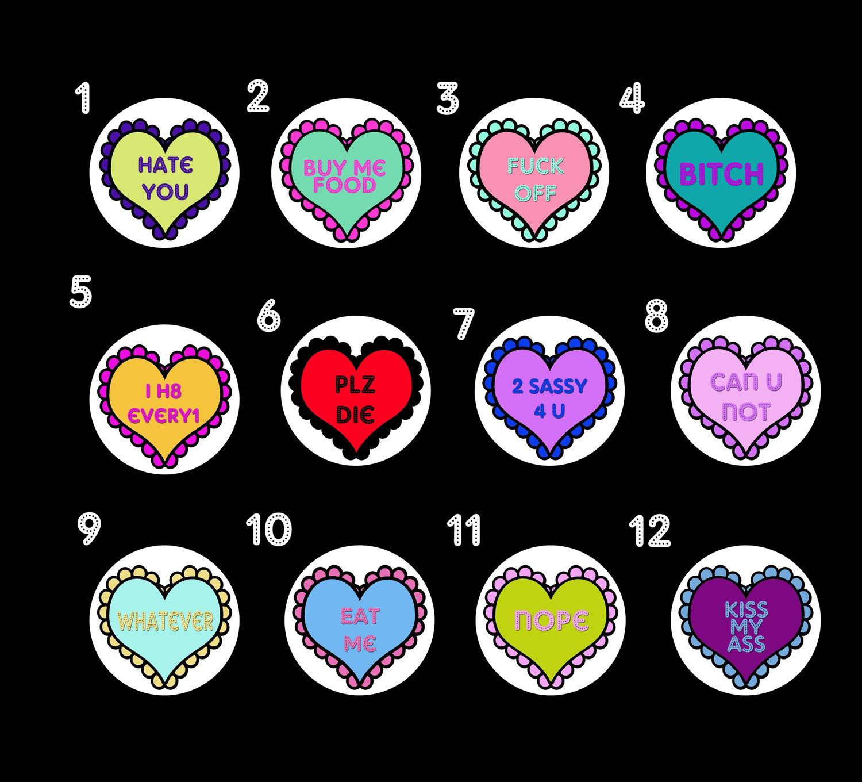 """Image of Phrase Heart Plugs (sizes 2g-2"""")"""