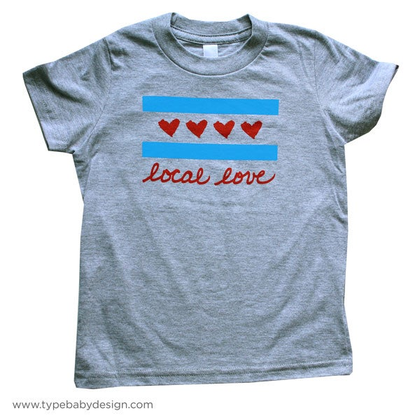 Image of Local Love Chicago Flag Kids & Toddler Tee   Chicago IL