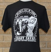 Image of WILDEST CAT IN TOWN T-SHIRT (MENS) (CRAZY CAVAN STORE)