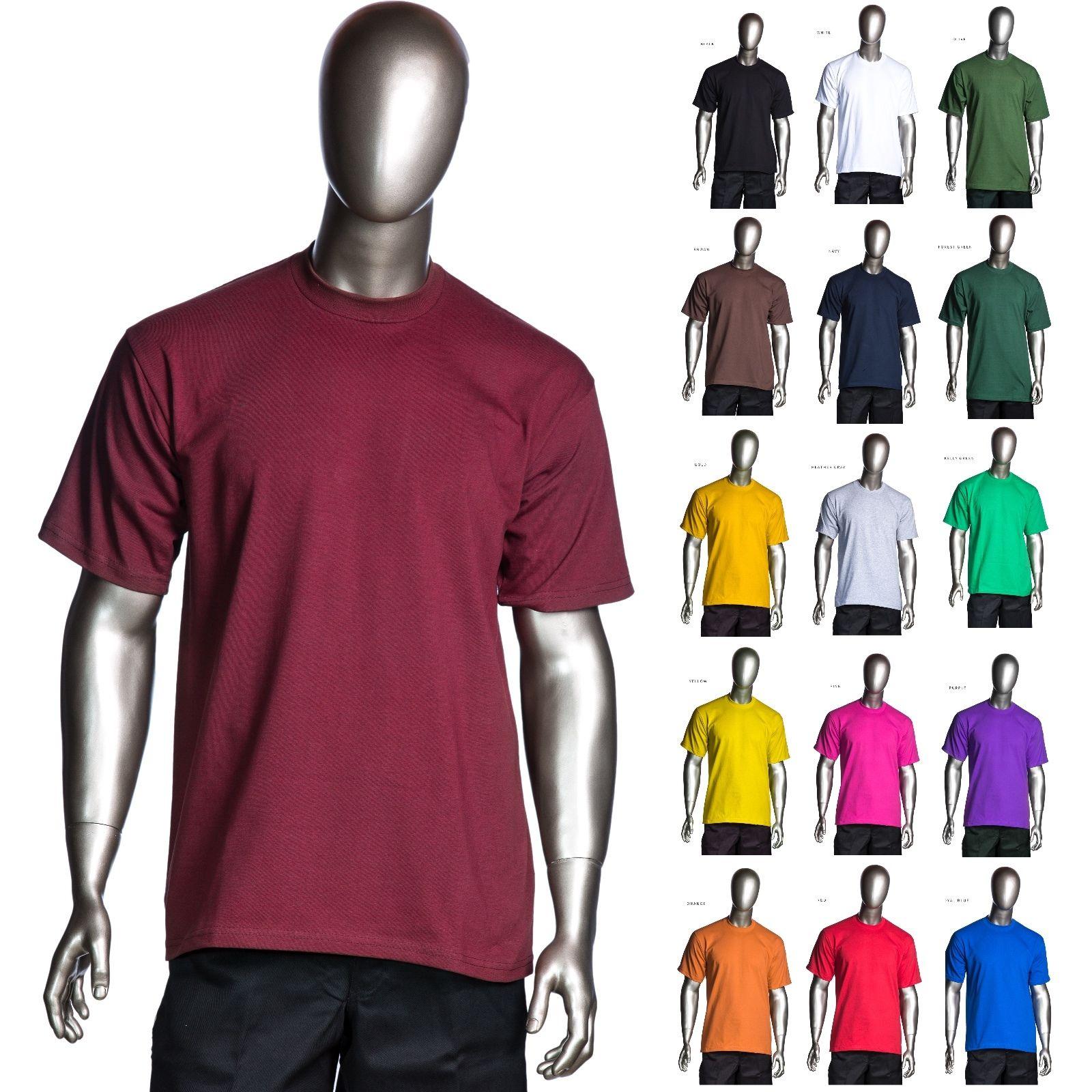 e1b6ebcf pro club heavyweight short sleeve tee crew neck plain t shirts homiegear